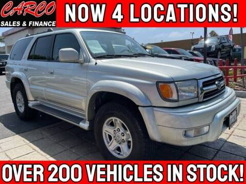 2000 Toyota 4Runner for sale at CARCO SALES & FINANCE in Chula Vista CA