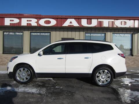 2013 Chevrolet Traverse for sale at Pro Auto Sales in Carroll IA