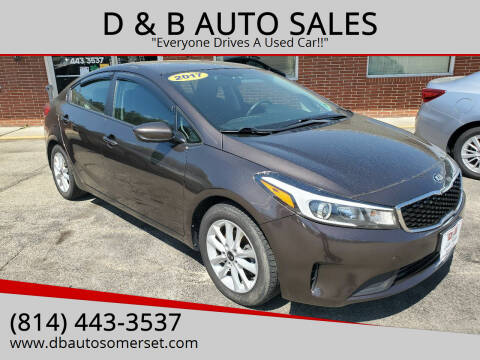 2017 Kia Forte for sale at D & B AUTO SALES in Somerset PA