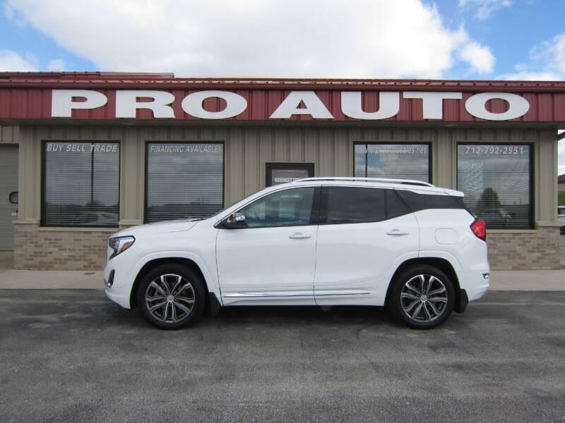 2018 GMC Terrain for sale at Pro Auto Sales in Carroll IA
