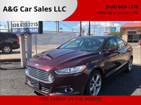 2013 Ford Fusion for sale at A&G Car Sales  LLC in Tucson AZ
