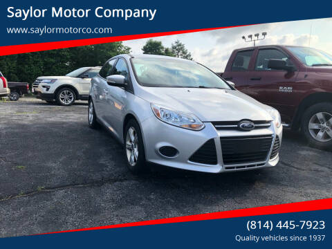 2014 Ford Focus for sale at Saylor Motor Company in Somerset PA