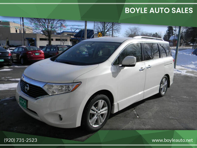 2012 Nissan Quest for sale at Boyle Auto Sales in Appleton WI