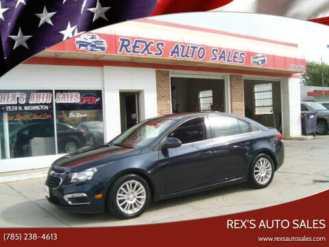 2015 Chevrolet Cruze for sale at Rex's Auto Sales in Junction City KS