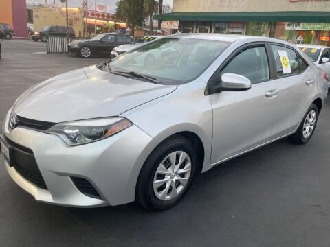 2015 Toyota Corolla for sale at La Mesa Auto Sales in Huntington Park CA