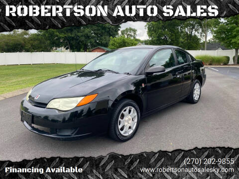 2004 Saturn Ion for sale at ROBERTSON AUTO SALES in Bowling Green KY