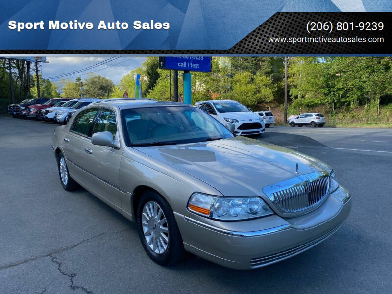 2004 Lincoln Town Car for sale at Sport Motive Auto Sales in Seattle WA