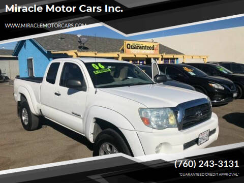 2006 Toyota Tacoma for sale at Miracle Motor Cars Inc. in Victorville CA