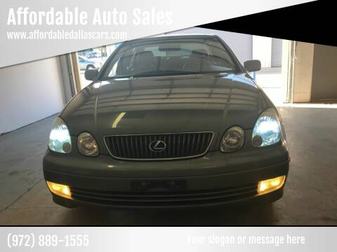 2002 Lexus GS 300 for sale at Affordable Auto Sales in Dallas TX