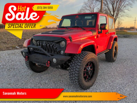 2015 Jeep Wrangler for sale at Savannah Motors in Elsberry MO