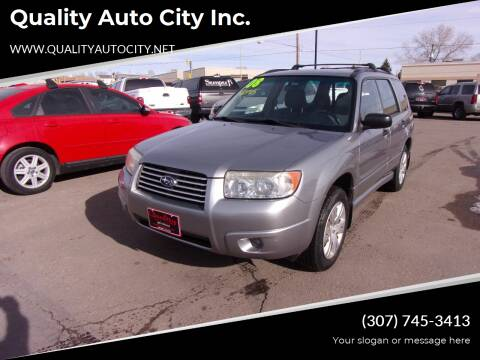 2008 Subaru Forester for sale at Quality Auto City Inc. in Laramie WY