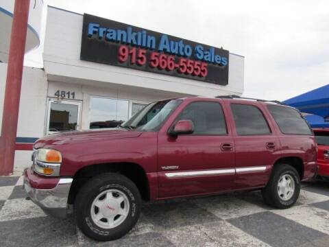 2004 GMC Yukon for sale at Franklin Auto Sales in El Paso TX