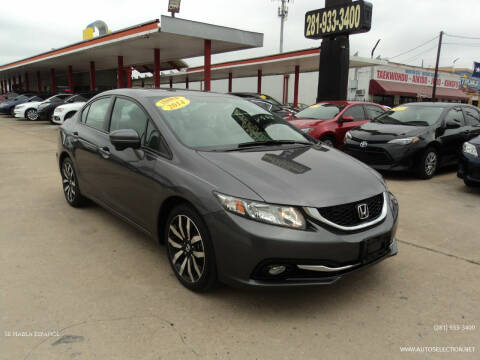 2014 Honda Civic for sale at Auto Selection of Houston in Houston TX