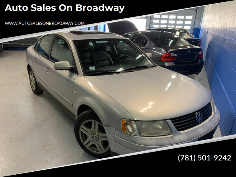 2000 Volkswagen Passat for sale at Auto Sales on Broadway in Norwood MA