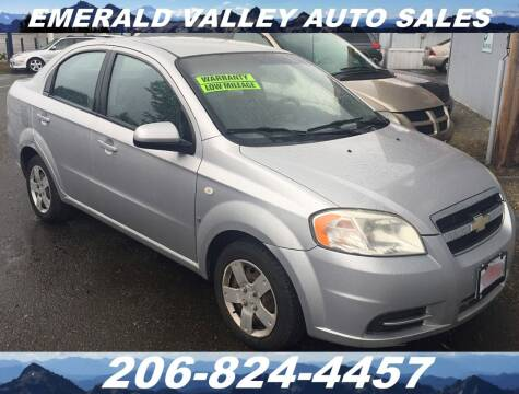 2007 Chevrolet Aveo for sale at Emerald Valley Auto Sales in Des Moines WA