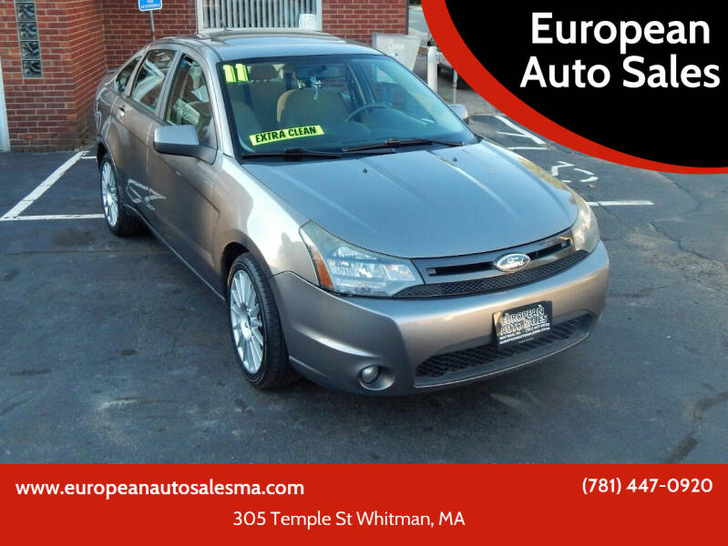 2011 Ford Focus for sale at European Auto Sales in Whitman MA