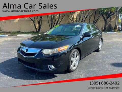 2011 Acura TSX for sale at Alma Car Sales in Miami FL