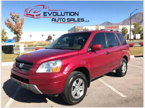 2004 Honda Pilot for sale at Evolution Auto Sales LLC in Springville UT