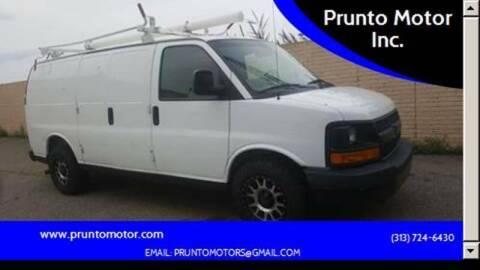 2012 Chevrolet Express Cargo for sale at Prunto Motor Inc. in Dearborn MI