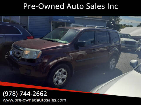 2010 Honda Pilot for sale at Pre-Owned Auto Sales Inc in Salem MA
