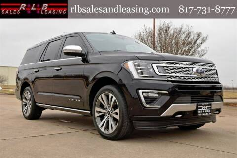 2020 Ford Expedition MAX for sale at RLB Sales and Leasing in Fort Worth TX