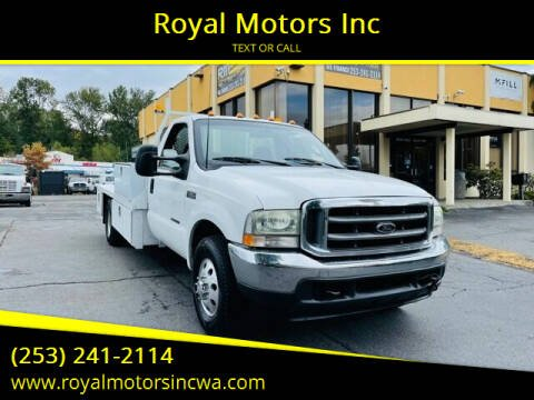2003 Ford F-350 Super Duty for sale at Royal Motors Inc in Kent WA