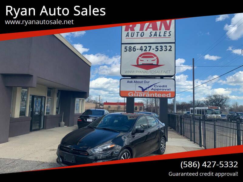 2015 Dodge Dart for sale at Ryan Auto Sales in Warren MI