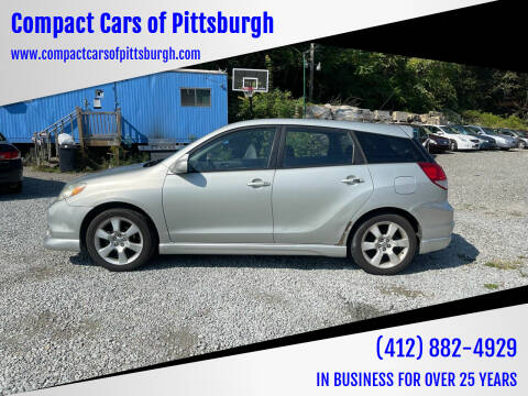2003 Toyota Matrix for sale at Compact Cars of Pittsburgh in Pittsburgh PA