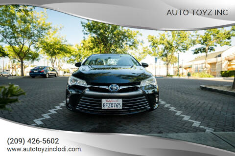 2016 Toyota Camry Hybrid for sale at Auto Toyz Inc in Lodi CA