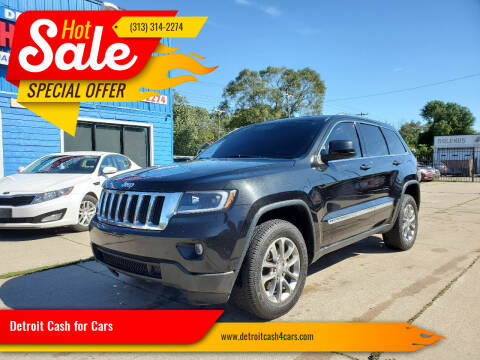 2012 Jeep Grand Cherokee for sale at Detroit Cash for Cars in Warren MI