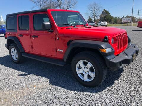 2019 Jeep Wrangler Unlimited for sale at RAYMOND TAYLOR AUTO SALES in Fort Gibson OK