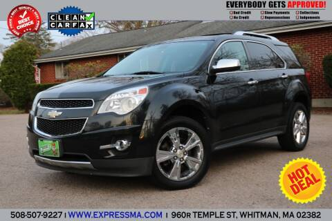 2011 Chevrolet Equinox for sale at Auto Sales Express in Whitman MA