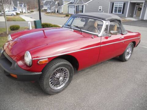 1979 MG MGB for sale at Viscuso Motors in Hamden CT