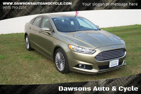 2013 Ford Fusion for sale at Dawsons Auto & Cycle in Glen Burnie MD