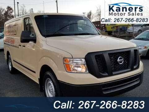 2016 Nissan NV Cargo for sale at Kaners Motor Sales in Huntingdon Valley PA