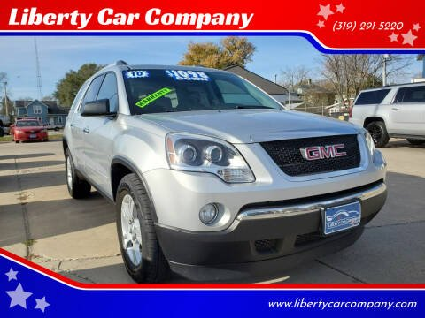 2010 GMC Acadia for sale at Liberty Car Company in Waterloo IA