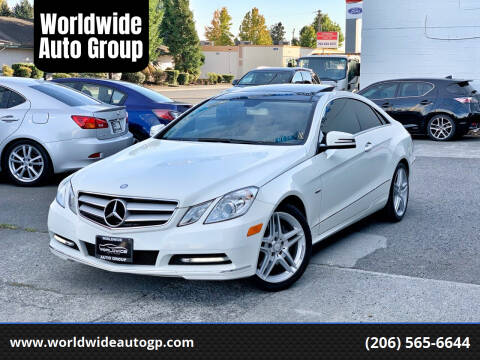 2012 Mercedes-Benz E-Class for sale at Worldwide Auto Group in Auburn WA