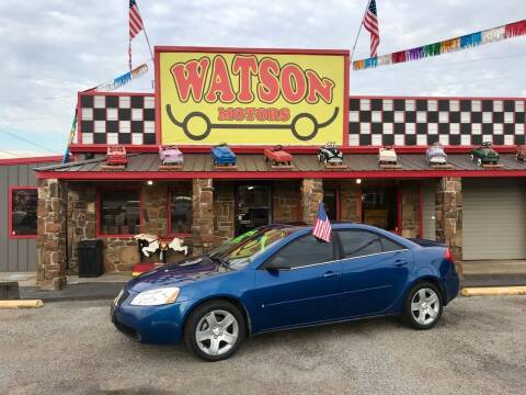 2007 Pontiac G6 for sale at Watson Motors in Poteau OK