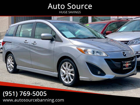 2012 Mazda MAZDA5 for sale at Auto Source in Banning CA