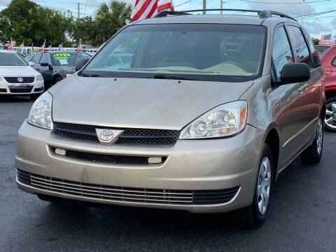 2004 Toyota Sienna for sale at KD's Auto Sales in Pompano Beach FL