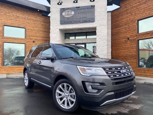 2017 Ford Explorer for sale at Hamilton Motors in Lehi UT