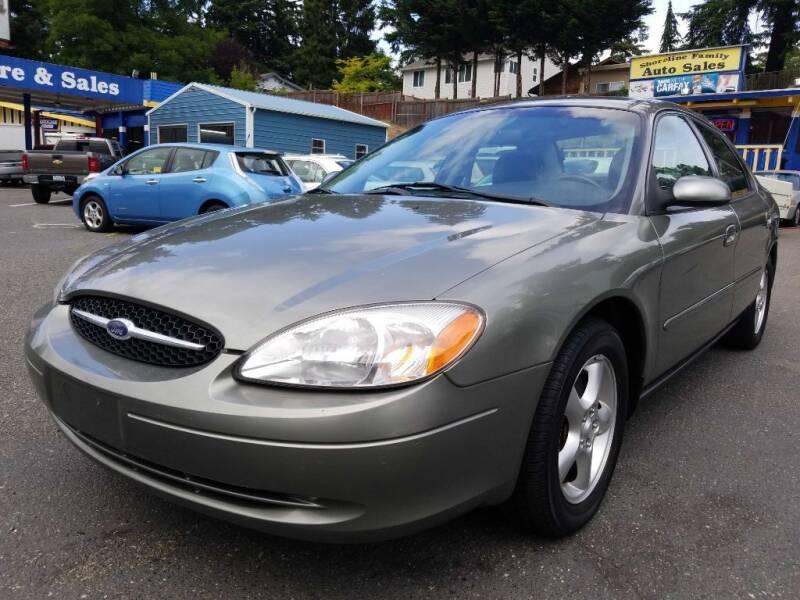 2001 Ford Taurus for sale at Shoreline Family Auto Care And Sales in Shoreline WA