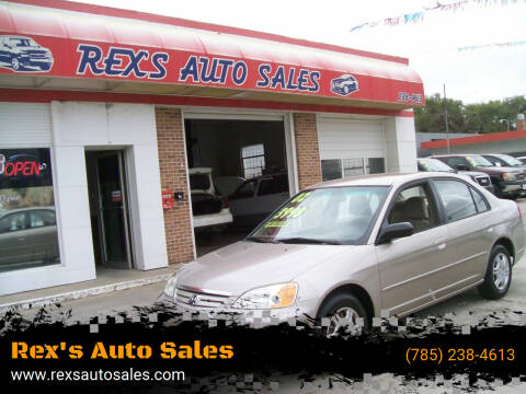 2002 Honda Civic for sale at Rex's Auto Sales in Junction City KS