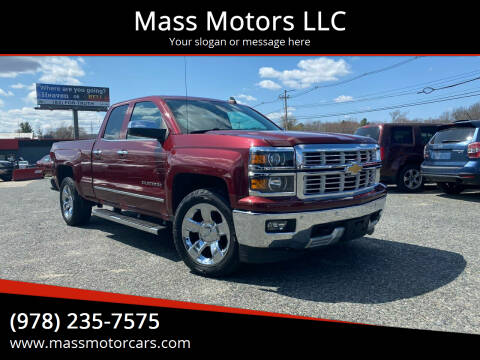 2015 Chevrolet Silverado 1500 for sale at Mass Motors LLC in Worcester MA