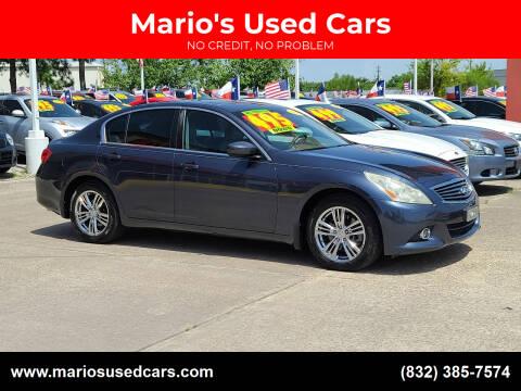 2012 Infiniti G37 Sedan for sale at Mario's Used Cars in Houston TX