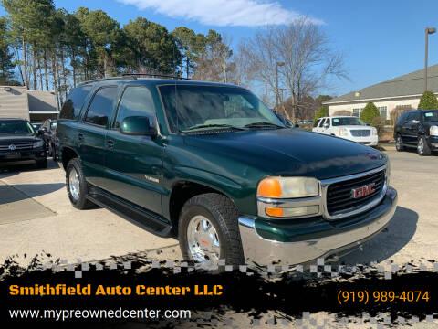 2002 GMC Yukon for sale at Smithfield Auto Center LLC in Smithfield NC
