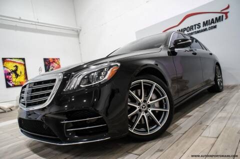 2018 Mercedes-Benz S-Class for sale at AUTO IMPORTS MIAMI in Fort Lauderdale FL