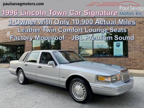 1996 Lincoln Town Car for sale at Paul Sevag Motors Inc in West Chester PA