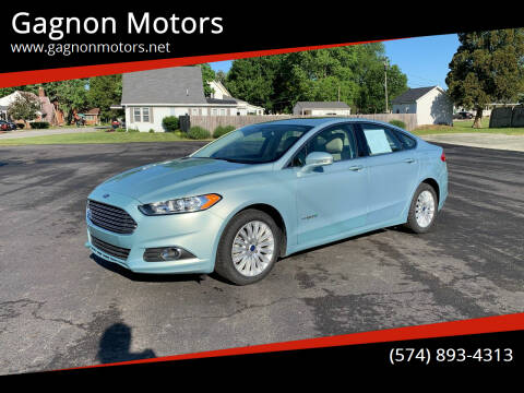 2014 Ford Fusion Hybrid for sale at Gagnon  Motors - Gagnon Motors in Akron IN