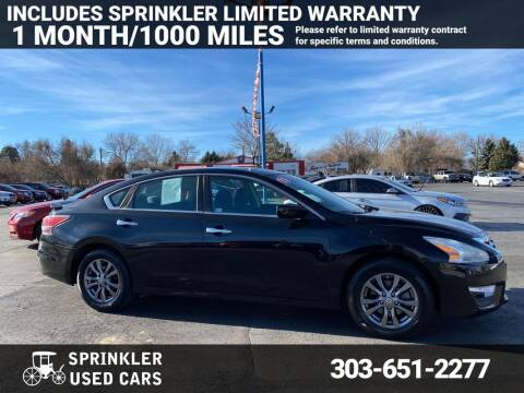 2015 Nissan Altima for sale at Sprinkler Used Cars in Longmont CO